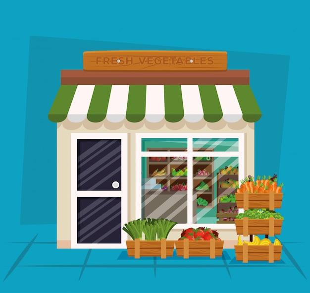 健康野菜と新鮮な果物製品