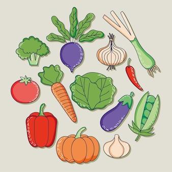 Здоровые овощи в форме круга
