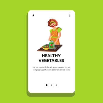 Healthy vegetables preserving in jar woman vector. housewife preparing healthy vegetables preserves. character cooking and pickling organic ripe harvest food web flat cartoon illustration