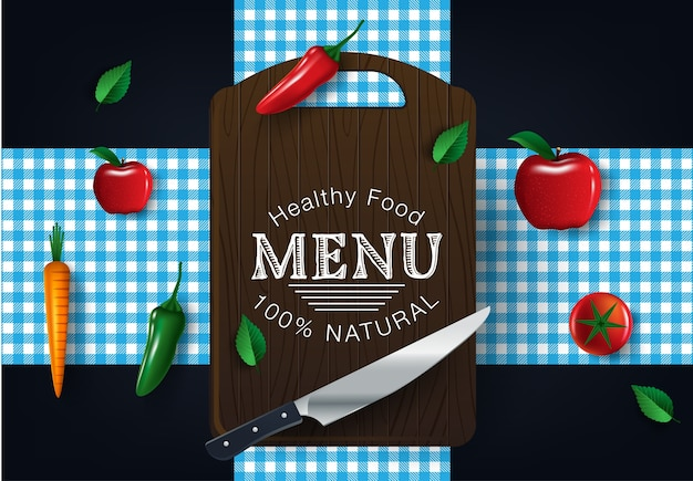 Healthy vegetables and vegetarian food banners