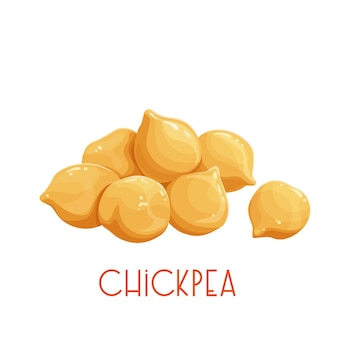Heap of chickpeas illustration