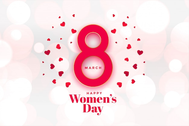Heappy womens day hearts background beautiful