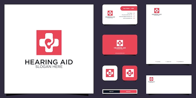 Hearing aid logo and brand identity design