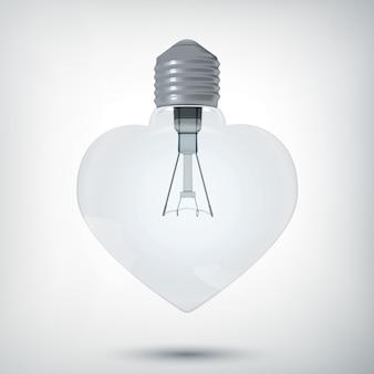 Lampadina del cuore 3d