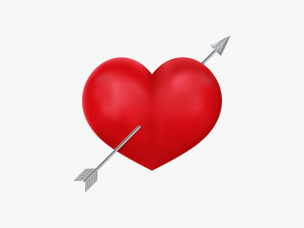 Heart and arrow icon