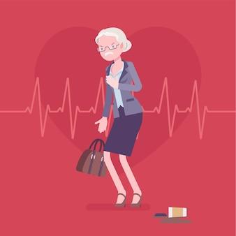심장 마비 여성 증상