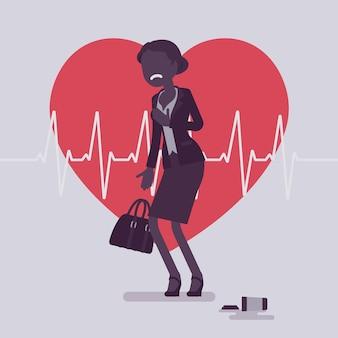 心臓発作の女性の症状