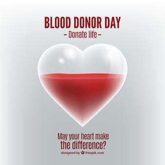 Sfondo cuore e donazione di sangue