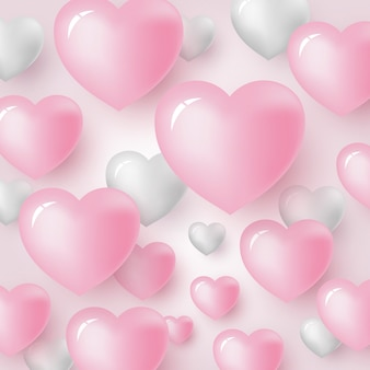 Heart background design for valentine's day and wedding card