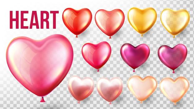 Heart balloon set