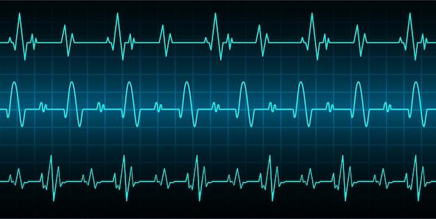Heart beats cardiogram background