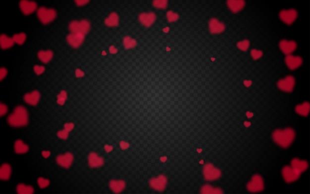 Heart bokeh transparent background