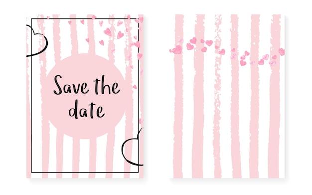 Граница сердца. розовое разбросанное приглашение. частица белых матерей. золотая вечеринка art. полоса гранж кадр. набор для помолвки