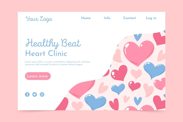 Heart clinic landing page