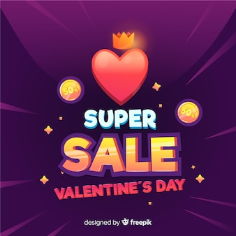 Heart and coins valentine sale background