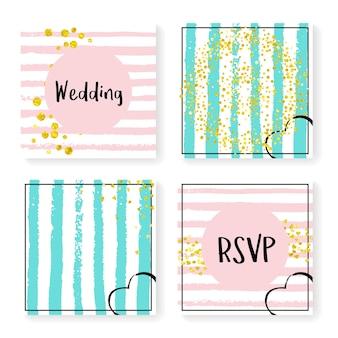 Heart confetti. celebration brochure set. white carnival particle. pink branding design. turquoise xmas art. rose textile. stripe rain stardust. golden heart confetti