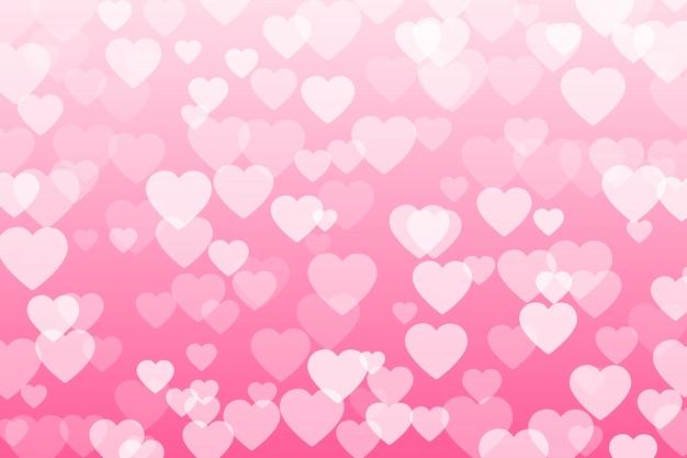 투명 한 배경에서 떨어지는 발렌타인 꽃잎의 심장 색종이.