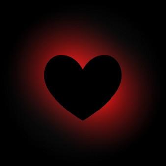 A forma di cuore in fondo scuro