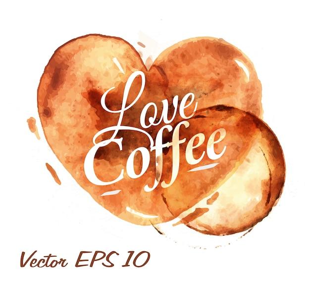 Heart drawn pour love coffee