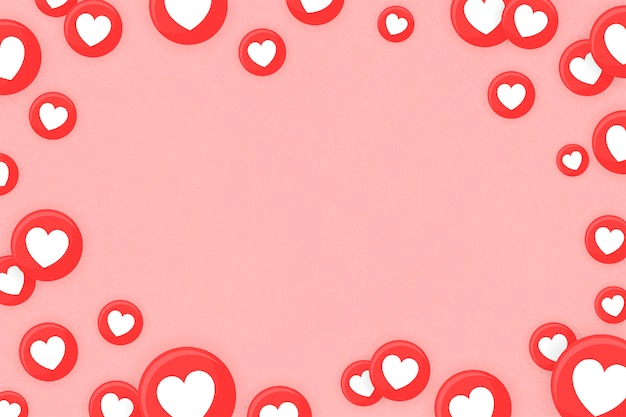 Heart emoji framed background