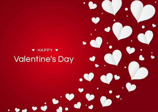 Heart flowers valentine's day