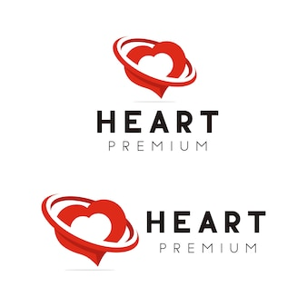 Heart galaxy logo design