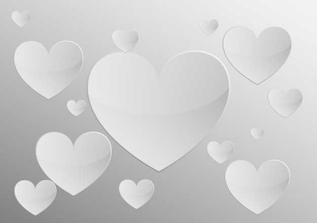 Heart gray paper  background