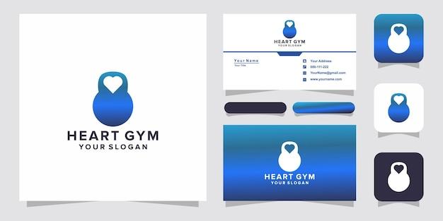 Логотип спортзала сердца