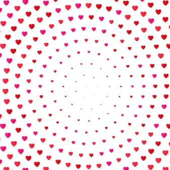 ハートハーフトーンカラーの背景。バレンタインの日と結婚の招待カード、ロマンスと愛。図