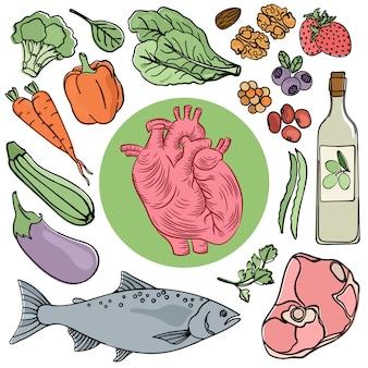 심장 건강 식품 인간 다이어트 영양