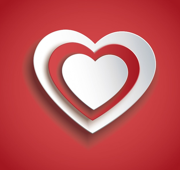 Heart in heart icon vector. valentine`s day