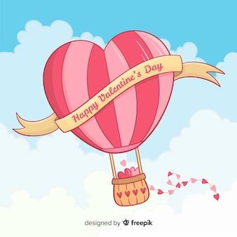 ハート熱気球の背景