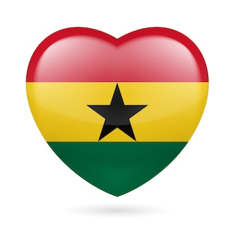 Heart icon of ghana