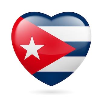キューバのハートのアイコン