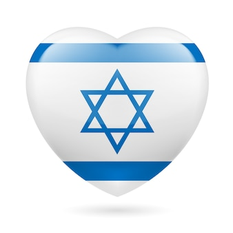 Сердце значок израиля