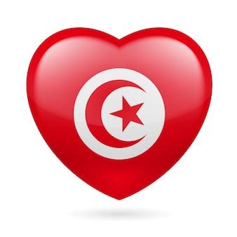 チュニジアのハートのアイコン
