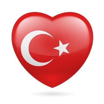 トルコのイラストのハートのアイコン