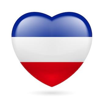 ユーゴスラビアのハートのアイコン