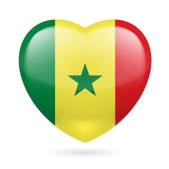Heart icon of senegal