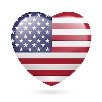Heart icon of usa
