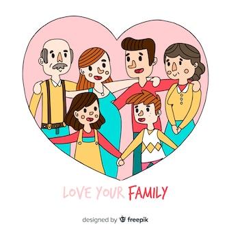 가족 배경의 심장 국제 하루
