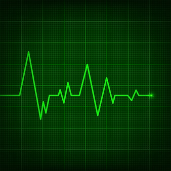 Heart line cardiogram, medical heartbeat pulse.