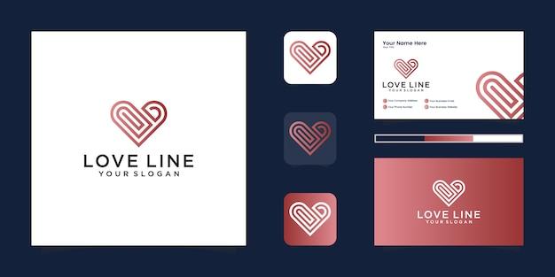 Heart line logo health care logotype concept.