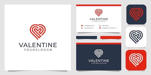 Heart logo set