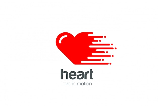 Heart logo vector icon.