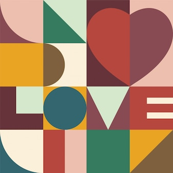 Heart and love design background