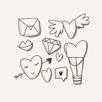 Heart, love icons