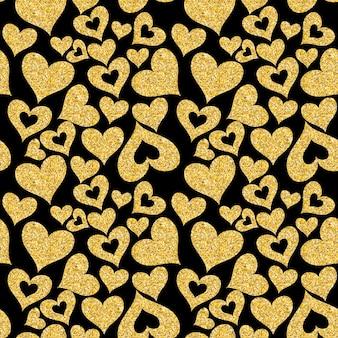 Сердце любви бесшовный фон фон векторные иллюстрации