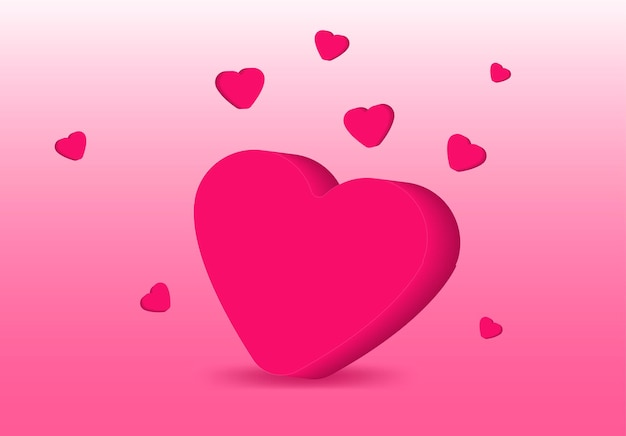 Сердце любовь день святого валентина баннер