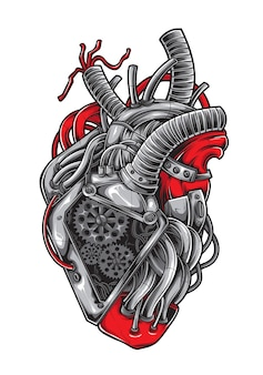Heart machine vector